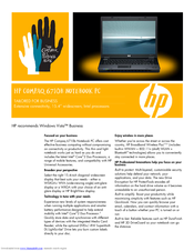 HP 6710b - Compaq Business Notebook Specification Sheet