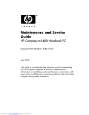 hp nc6400 compaq business notebook manuals rh manualslib com hp compaq nc6400 repair manual hp compaq nc6400 manual pdf
