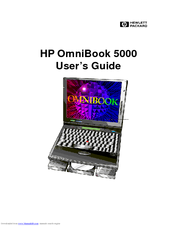 HP OmniBook 5000 User Manual