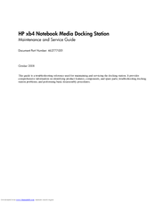 HP 463777-001 Maintenance And Service Manual