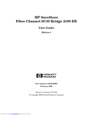HP Surestore E Tape Library Model 4/40 User Manual