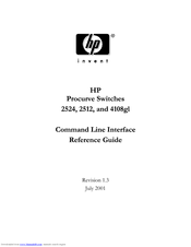HP ProCurve 2512 Cli Reference Manual