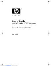 HP iPAQ h2200 Series User Manual