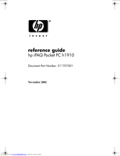 HP 311324-001 -  iPAQ Pocket PC H1910 Reference Manual
