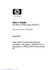 HP iPAQ hx2100 - Pocket PC User Manual
