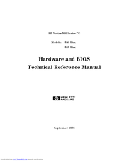 HP 520 5/XX Technical Reference Manual