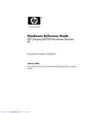 hp dx2200 hardware reference manual pdf download rh manualslib com