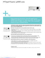 HP xp8000 - Digital Projector Specification Sheet
