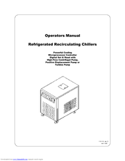 HP Refrigerated Recirculating Chillers Operator's Manual