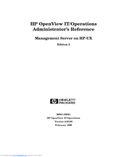 HP -UX B6941-90001 Administrator's Reference Manual