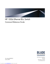 HP 10GB ETHERNET BL-C SWITCH BMD00022 Command Reference Manual