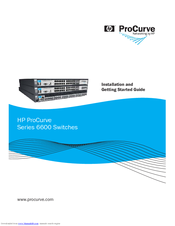 HP ProCurve 6600-24G-4XG Installation And Getting Started Manual