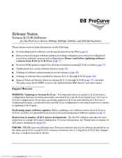 HP ProCurve 3500yl Release Notes