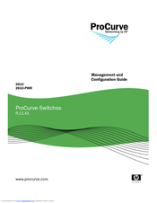 HP ProCurve 2610-24-PWR Management And Configuration Manual