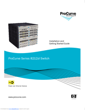 HP ProCurve 8212zl Series Installation And Getting Started Manual