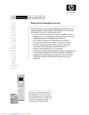 HP XLWW Specification Sheet