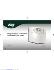indiglo 44250a thermostat instructions