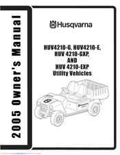 Husqvarna HUV4210GX Owner's Manual