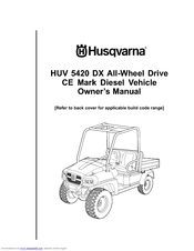 Husqvarna HUV 5420 DX Owner's Manual