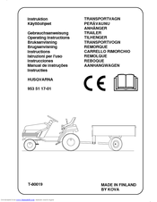 Husqvarna T-80017 Operating Instructions Manual