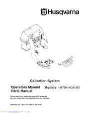 Husqvarna 111750 / HCS1372 Operator And Parts Manual