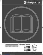 Husqvarna 130bt 350bt/bf 370bts/bfs 380bts/bfs operator's manual.
