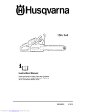 Husqvarna 136, 141 Instruction Manual