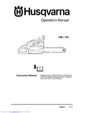 Husqvarna 136, 141, 136le, 141le instruction manual pdf download.