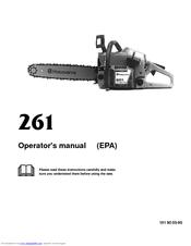 Husqvarna 261 Manuals
