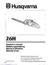 Husqvarna 26H Operator's Manual
