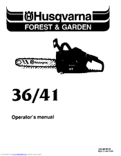 husqvarna 41 manuals rh manualslib com Husqvarna 41 Chainsaw Compression Release Husqvarna 41 Chainsaw Manual PDF