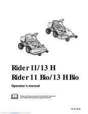 husqvarna rider 13 h bio manuals rh manualslib com 395XP Husqvarna Service Manual Husqvarna Mower Troubleshooting Manual