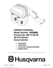 Husqvarna H238SL Owner's Manual
