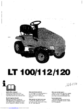 Husqvarna LT112 Instruction Manual