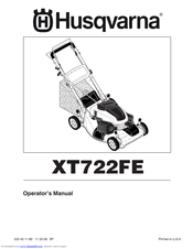 husqvarna xt722fe manuals rh manualslib com Husqvarna Bagger Attachment Husqvarna Snow Blower Attachment