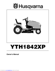 Husqvarna YTH1842XP Owner's Manual