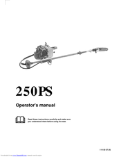 Husqvarna 250PS Operator's Manual