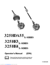 Husqvarna 325HE4X-Series Operator's Manual