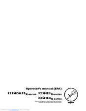 Husqvarna 325HS99 X-series Operator's Manual