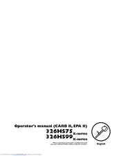 Husqvarna 325HS75 X-series Operator's Manual