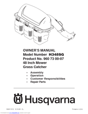 Husqvarna H348SG Owner's Manual
