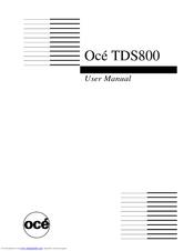 oce oce tds800 manuals rh manualslib com Online User Guide User Training
