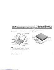 ibm 2621483 thinkpad i series 1400 2621 manuals rh manualslib com IBM ThinkPad T40 Manual IBM ThinkPad T40 Manual