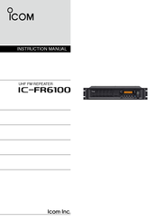 Icom IC-FR6100 Instruction Manual