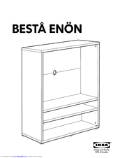 ikea besta enon aa 204866 4 manuals. Black Bedroom Furniture Sets. Home Design Ideas