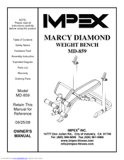 Impex Marcy Diamond MD-859 Manuals