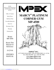 impex marcy platinum mp 4500 manuals rh manualslib com Marcy Home Gym Exercise Equipment Marcy Home Gym Assembly