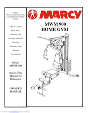 MARCY MWM 900 OWNER'S MANUAL Pdf Download
