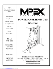 impex powerhouse wm 1501 owner s manual pdf download rh manualslib com  impex powerhouse fitness machine workouts