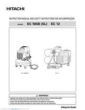 Hitachi EC 10SB SL Instruction Manual And Safety Instructions